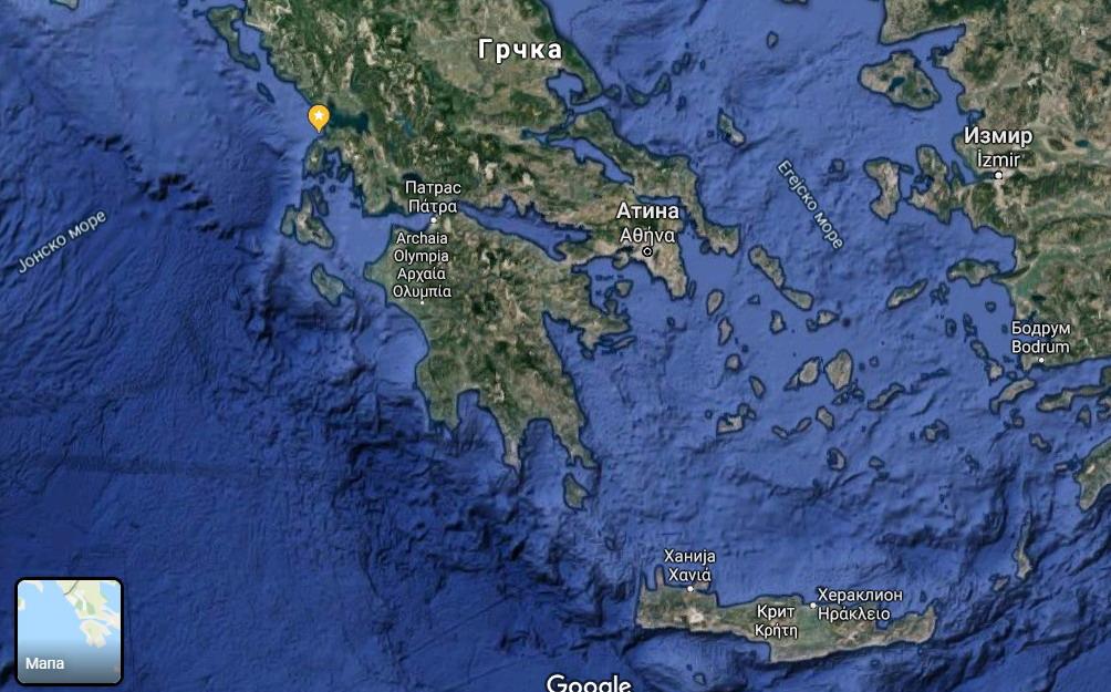Mapa Grčke