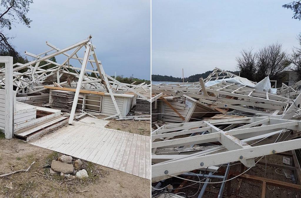 Veliko nevreme oštetilo kuće na Kasandri