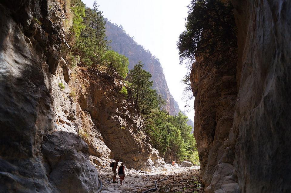 Samaria kanjon i nacionalni park na Kritu