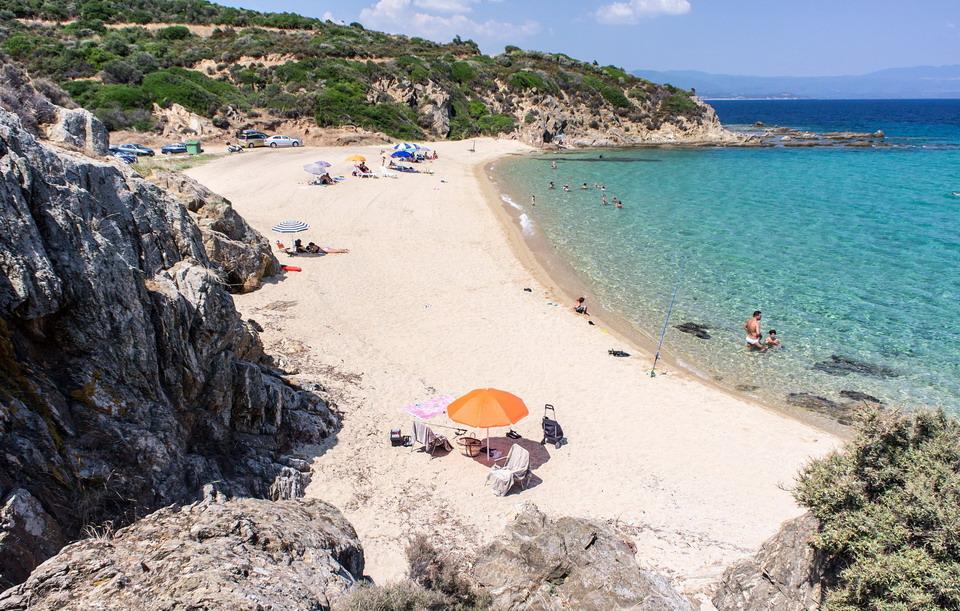 Voulitsa plaža - Nea Roda, Atos