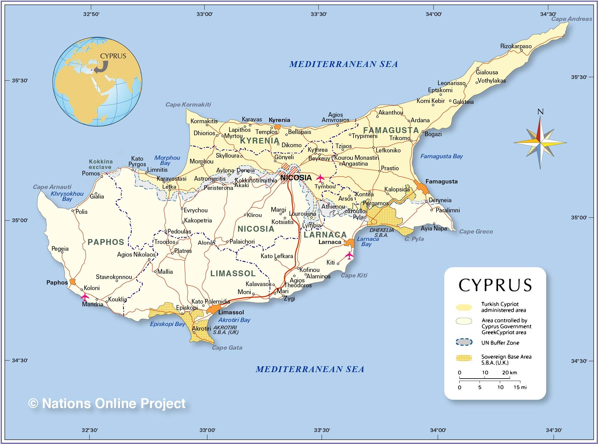 Gde se nalazi i kako je okupiran Kipar?
