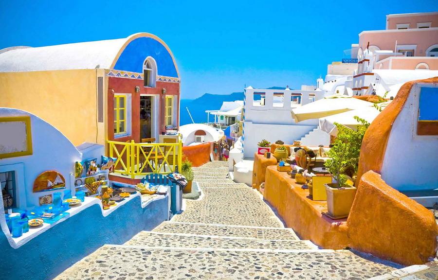 Medeni mesec na magičnom Santoriniju... Jovana Kostić